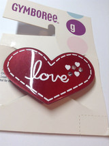 Gymboree Girl Tiger Love Line Red Barrette/Clip NWT Snap Love Hair Check It Out - $12.95