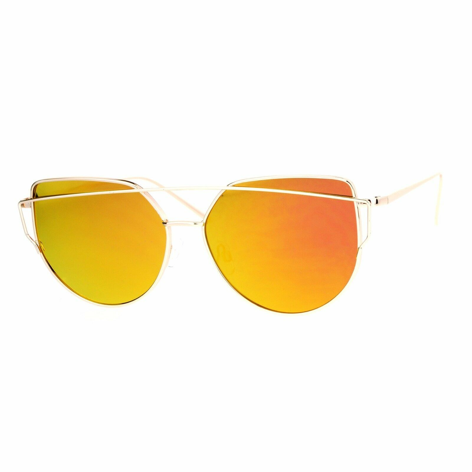 Retro Fashion Sunglasses Womens Half Round Wire Top Metal Frame UV 400