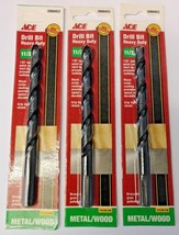 "Ace 2000453 11/32"" Heavy Duty Metal / Wood Drill Bit (3 Packs) - $8.91"