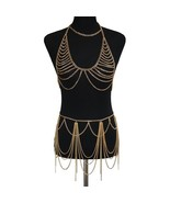 Charm Women Metal Mesh Body Chain Dress Chainmail Wrap Necklace Harness ... - $29.67