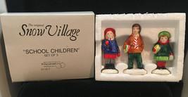 DEPT 56 SNOW VILLAGE SCHOOL CHILDREN WITH BOOKS VERY NICE set of 3, 5118-7 - $10.20