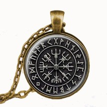 Steampunk 1pcs/lot Norse Viking Cross in Rune Circle pendant jewelry Gla... - $9.96