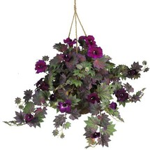 Nearly Natural 6610 24in. Morning Glory Hanging Basket Silk Plant - $43.43