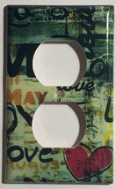 Street Art Wall Painting Love Light Switch Outlet wall Cover Plate Home decor image 2