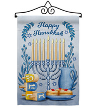 Happy Hanukkah - Impressions Decorative Metal Wall Hanger Garden Flag Se... - $27.97