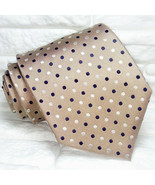 Wide Polka dot brown Tie Made in Italy 100% silk Morgana brand weddings ... - $27.46