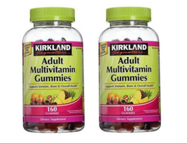 Kirkland Adult MULTIVITAMIN 160 Gummies FRUIT FLAVORED Multi Vitamin Gum... - $12.89