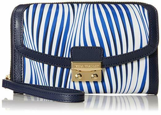 Vera Bradley Ultimate Wristlet in Wavy Stripe w Navy #15627697951 NWT - $27.71