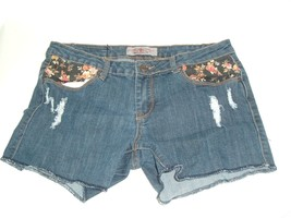 American Style Iris Women's Modern Vintage Denim Blue Jeans Shorts Sz L ... - $11.95