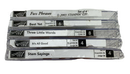 Stampin' Up! Fun Phrases Best Yet Three Little Words It's All Good Stem Sayings - $14.30
