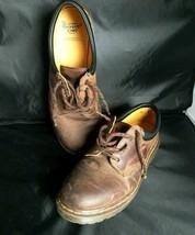 Dr. Martens Men's  US 12 Crazy Horse Brown Leather Shoes Air Wair medium oxford - $51.43