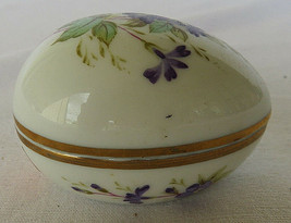 Lefton Porcelain Decorative Egg Hand Painted Trinket Box Trademarks Japan - $20.00