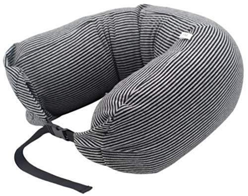 More Step Stripe Travel Neck Pillow Cusion with Buckle