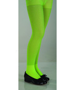 Girls Lime Green Glitter Tights   - $6.00