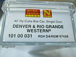 Micro-Trains # 10100031 Denver & Rio Grande Western 40' Hy-Cube Box Car N-Scale image 3