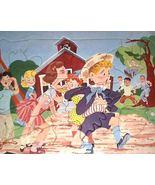 50s Child's Tray Puzzle Schoolyard Kiss w/Bulli... - $18.00