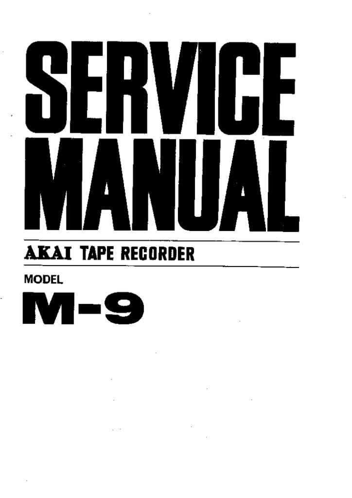 Akai m 9 oem owner manual and service manual and 50 similar items akai m 9 oem owner manual and service manual free shipping fandeluxe Images