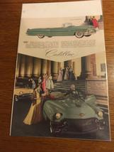 "Vintage Original 1956 Cadillac Convertible Car Print Ad 8.5""x11.5"" - $5.65"