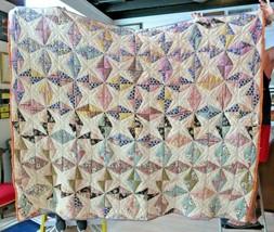 Vintage Handmade Coat Folk Art Patchwork Quilt Amish Sarasota Florida (7) - $200.00