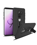 Samsung Galaxy S9+ Plus Cell Phone Case ShockProof - Hidden TPU Kickstan... - $9.89