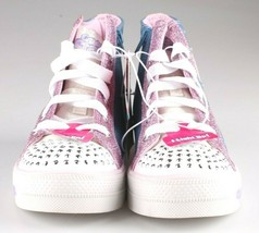 S Sport by Skechers Big Girls Pink Unicorn Raelynn Light-Up HiTop Shoes Sneakers image 2