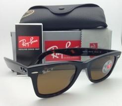 Neuf Ray-Ban Polarisé Sunglasses RB 2140 902/57 50-22 Voyageur Tortue W/Marron