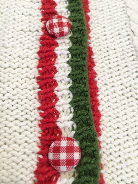 NWT Marisa Christina L Large Strawberry Patch Sweater Vest White Red Green image 4
