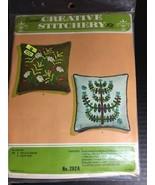 Vintage Kugel Vogart Crewel Embroidery FIELD FLOWERS Pillow Kit 292A Sea... - £13.77 GBP