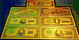 <MINT PROOF SET W/COA>GOLD$500-$1Billion~Rep.*Banknotes~RAISED DETAIL~U.S  - $22.33