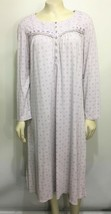 Lanz of Salzburg Womens M 10/12 Lavender Floral Cotton Blend Nightgown M... - $33.81