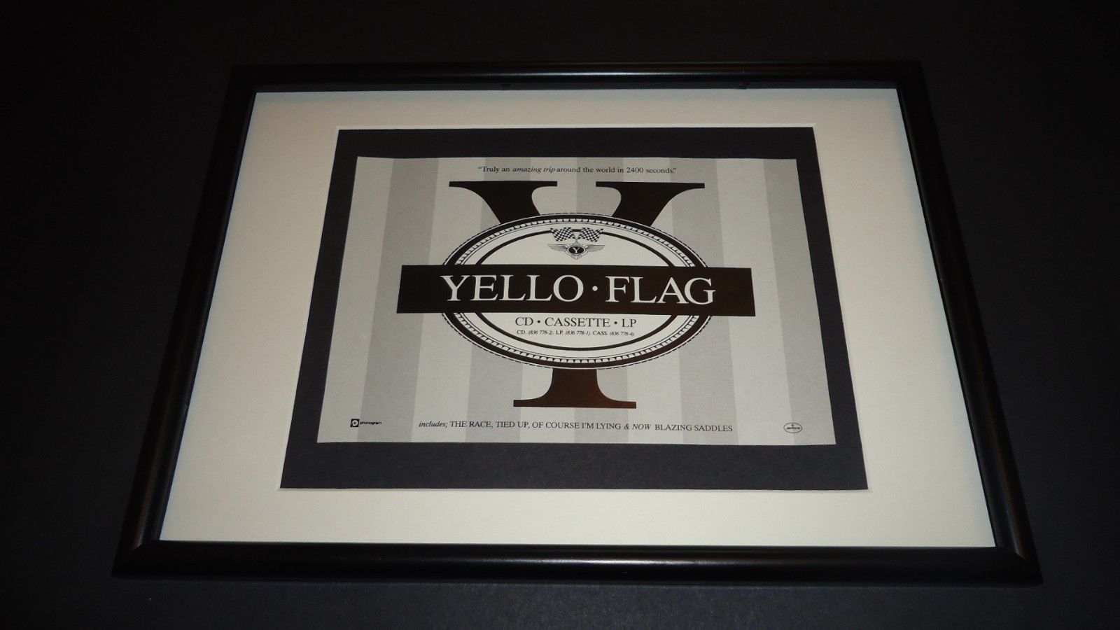Primary image for Yello-Flag-original advert framed