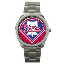 NFL Philadelphia Phillies logo Custom Sport Metal Men Watch  - $15.00