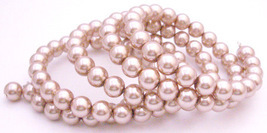 Champagne Pearls 5 Stranded Perfect Wrap Around the Wrist Bracelet - $11.43