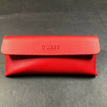 Guess Eye Sun Glass Case Soft Shell Protective Red Magnet Closure With Cloth - $9.49