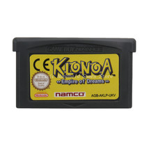 Klonoa Empire of Dreams GBA Game Boy Advance Reproduction Cartridge UK English - $11.99