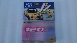 Sony CDixII 120 & AXIA J'Z2 150 Type II Cassette Tape HIgh Bias Tape - $25.25
