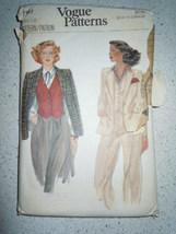 Vintage Vogue Misses Size 12 Jacket & Vest #7157  - $4.99