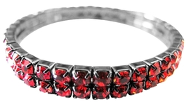Cubic Zircon Passionate Red Comfortable Wear Stretchable Bracelet - $10.15
