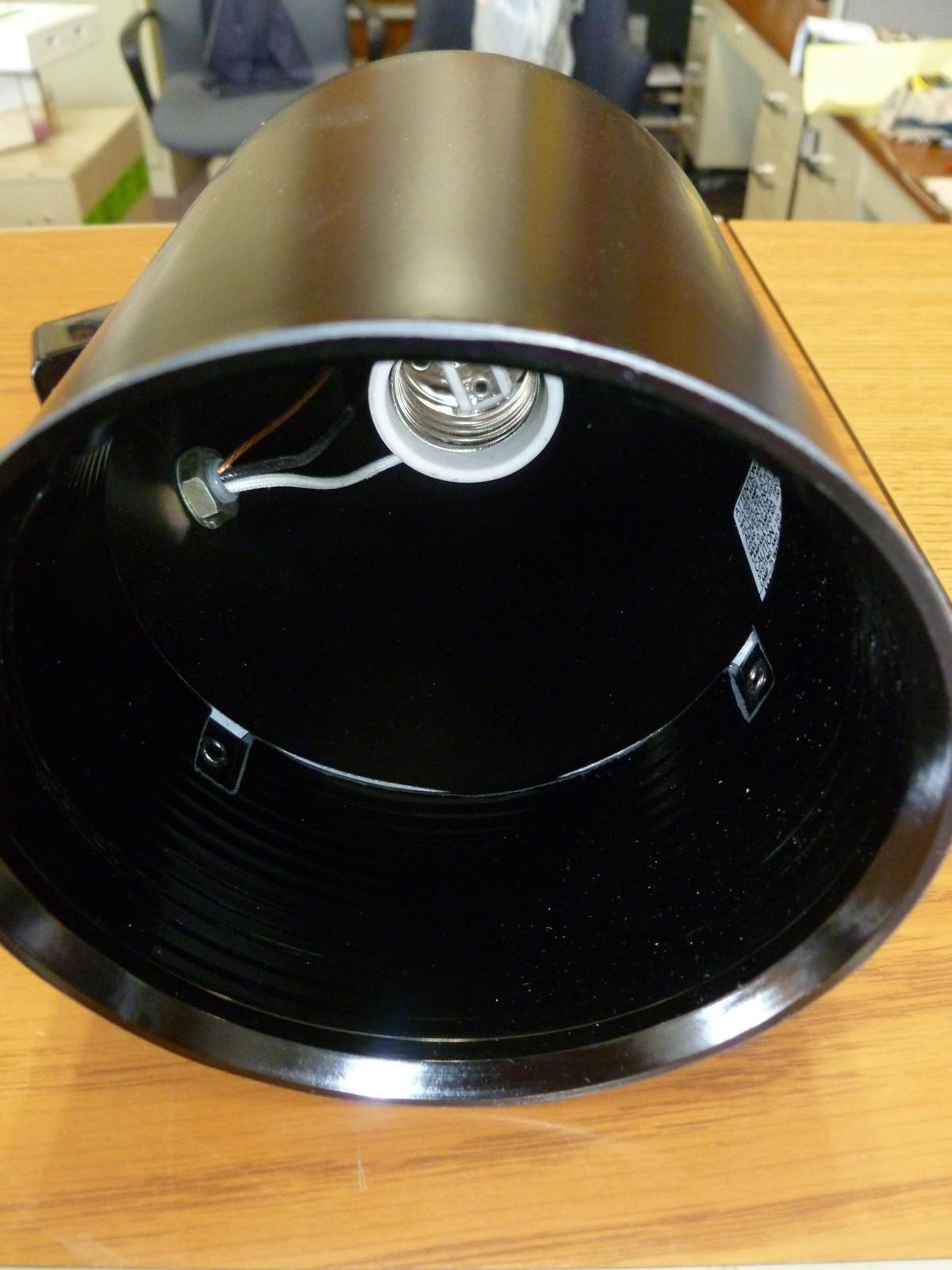 HALO POWER-TRAC L-746-MBX BLACK LIGHT FIXTURE LAMPHOLDER HANGING CEILING