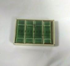Asian Green Ceramic Chopstick Rest Set of 4 Pottery Barn - $18.89