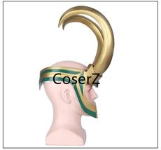 Loki Helmet, Thor Loki Cosplay Golden Full Head Helmet - $85.00