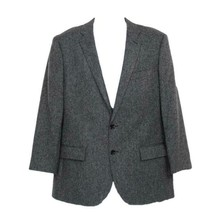 J Crew Men's Crosby Suit Jacket In English Donegal Wool Dark Gray 40R C8955 - $158.97