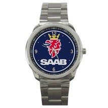 NEW Saab Car logo Custom Sport Metal Men Watch  - $15.00