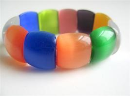 Colorful Stunning Millifiori Beads Stretchable Bracelet - $13.38