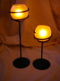 Partylite 2 Spiral Light Tealight Holders Party Light