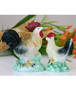 Vintage rooster chicken farm figurines porcelain miniatures thumbtall