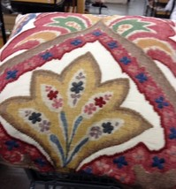 Pottery Barn Sullivan Pillow Cover Ivory 24 sq Ikat Floral Paisley Red New - $69.50