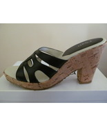 WOMAN SHOES, RSVP   BLACK 8M, CORK HEEL. - $9.00