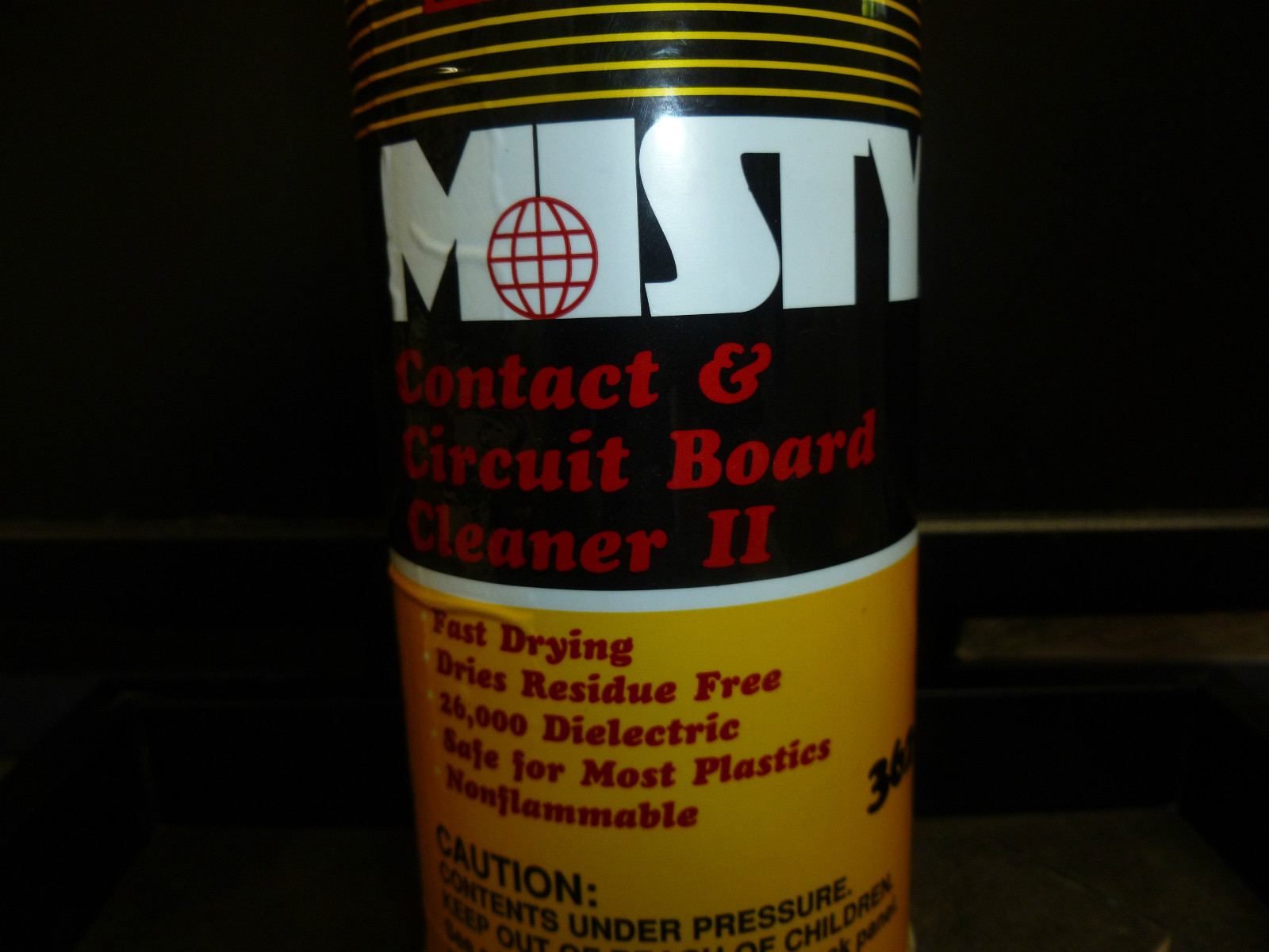Misty Contact And Circuit Board Cleaner II 362-16 Fast Drying Net Wt. 14 Oz