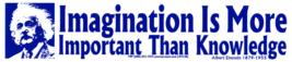 Imagination Is More Important Than Knowledge Einstein 2 1/2X 10 1/2 Sticker - $4.50
